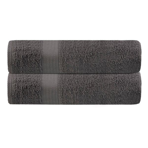 Ideal for Everyday use GLAMBURG Premium Cotton Oversized 2 Pack Bath Sheet 35x70-100/% Pure Cotton Charcoal Ultra Soft /& Highly Absorbent Machine Washable