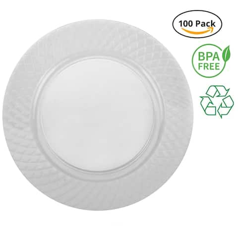 "Party Joy 'I Can't Believe its Plastic' 6"" Diamond Clear Plastic Plates"
