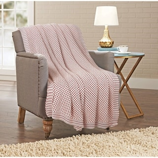 Porch & Den Viewpoint Knitted Cotton Throw Blanket