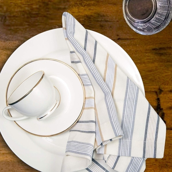 24 NEW Cotton Dinner Napkins WHITE 12 Pack 20 x 20 inch Durable Linen Table