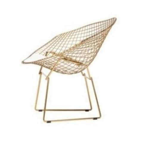 Bertoia Wire Diamond Chair in Champagne Gold