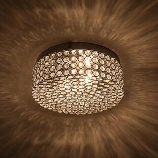 Link to CO-Z Modern 2-Light Round Crystal Flush Mount Ceiling Light Similar Items in Flush Mount Lights