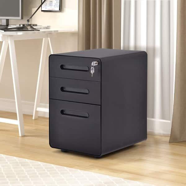 Merax File Cabinet 3 Drawer Metal
