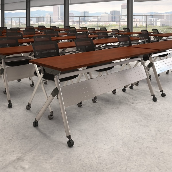 72W Folding Training Table with Chairs by Bush Business Furniture