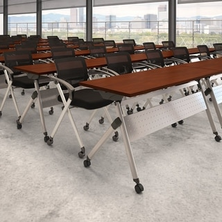 60W Folding Training Table with Chairs by Bush Business Furniture