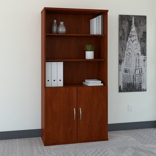 5 Shelf Bookcase with Doors by Bush Business Furniture