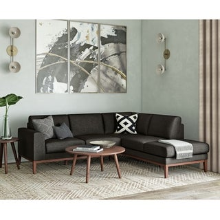 Carson Carrington Anlee Mid Century Modern Sectional Sofa with Chaise