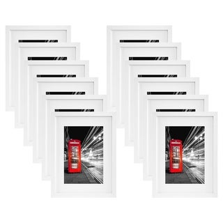 Americanflat 12 Pack - 11x14 White Picture Frames - Display Pictures 8x10 with Mats or 11x14 Without Mats