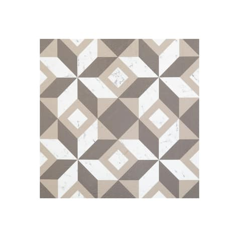 Retro 12x12 Self Adhesive Floor Tile-Prism Marble-20 Tiles/20 sq ft