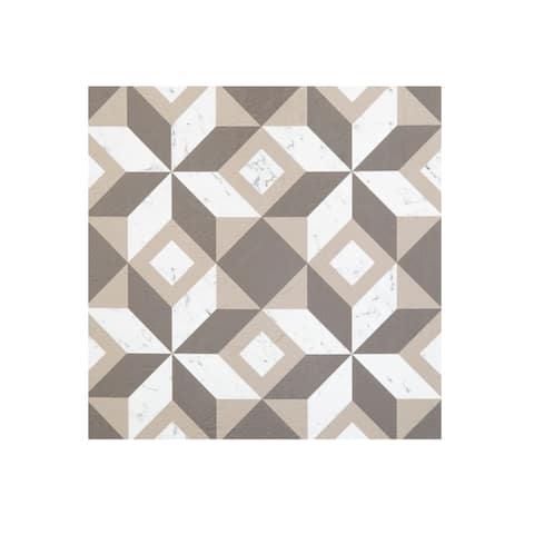 Retro 12x12 Self Adhesive Floor Tile-Prism Marble-20 Tiles/20 sq ft