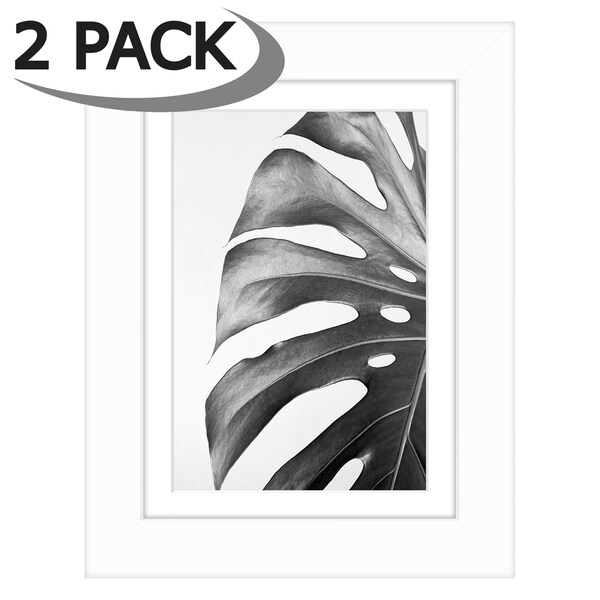 for 2 4x6 Photos or Pictures Photo Mats Pack of 5 8x10 White Picture Mat