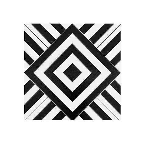 Retro 12x12 Self Adhesive Vinyl Floor Tile-Geometric 20 Tiles/20 sq ft