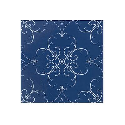 Retro 12x12 Self Adhesive Floor Tile-Navy Pearl-20 Tiles/20 sq ft