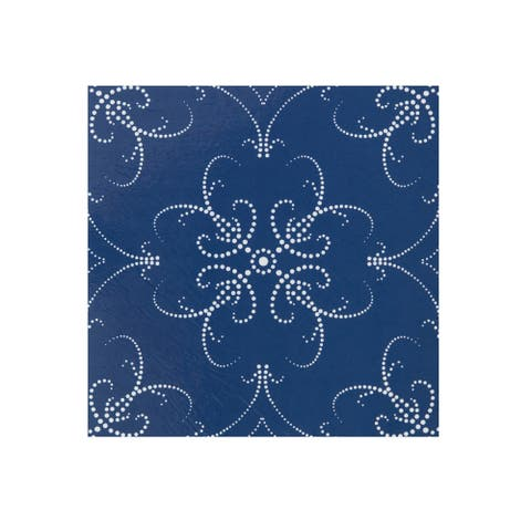 Retro 12x12 Self Adhesive Floor Tile-Navy Pearl-20 Tiles/20 sq ft