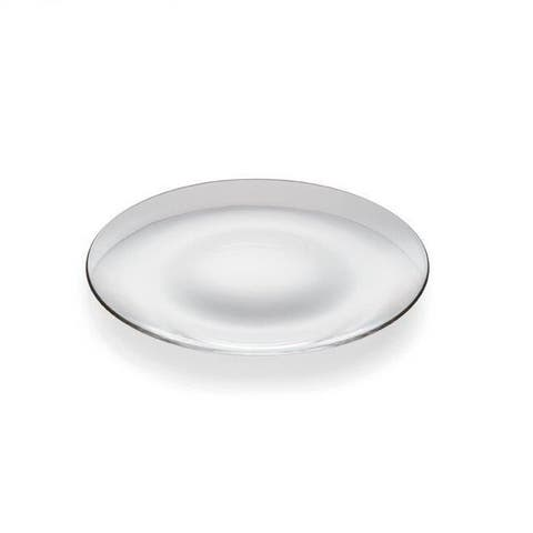 """Majestic Gifts Inc. European Glass Round Plate-11""""D-Set/6"""