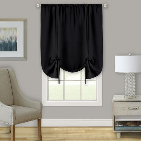 Darcy Window Curtain Tie Up Shade - 58x63