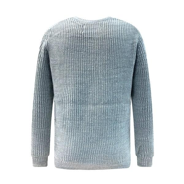Mens Soft Classic Rib Stitched Crew Neck Sweater Extra Small Grey