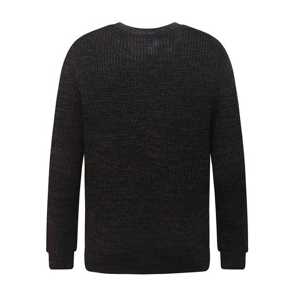 Mens Soft Classic Rib Stitched Crew Neck Sweater Medium Burgundy