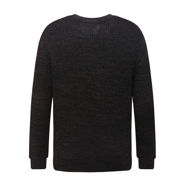 Mens Soft Classic Rib Stitched Crew Neck Sweater Large Burgundy