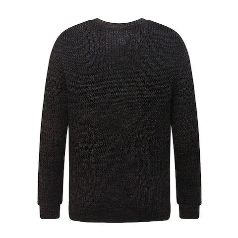 Men's Soft Classic Rib Stitched Crew Neck Sweater Small Burgundy