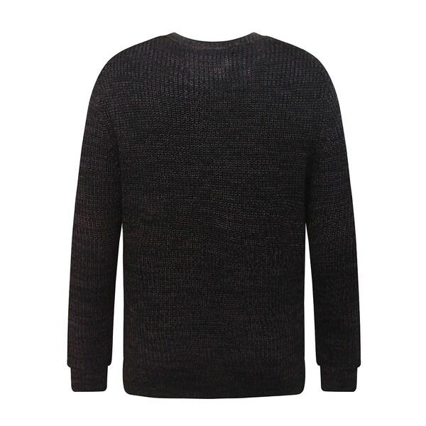 Mens Soft Classic Rib Stitched Crew Neck Sweater Extra Small Burgundy