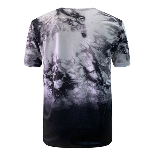 Villians of Virtue Mesh Tie-Dye Tee for Men Athletic Cotton T-Shirt Short Sleeve Large White