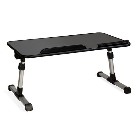 Atlantic Black Tilting/Adjustable Laptop Table Stand