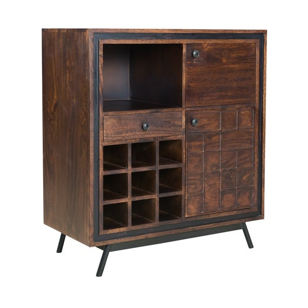 Two Door One Drawer Wine Server - N/A
