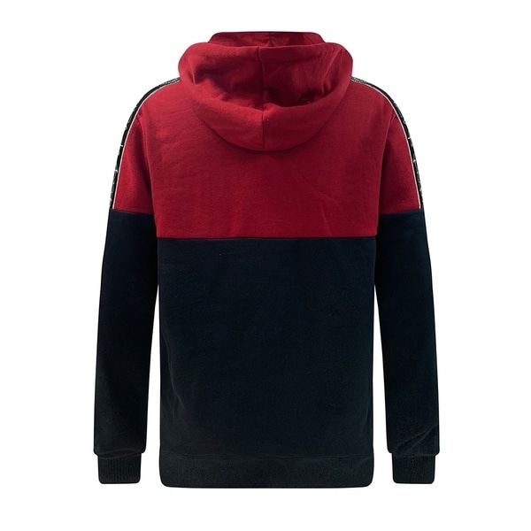 Villians of Virtue Mens Color Block Pullover Hoodie Small Red
