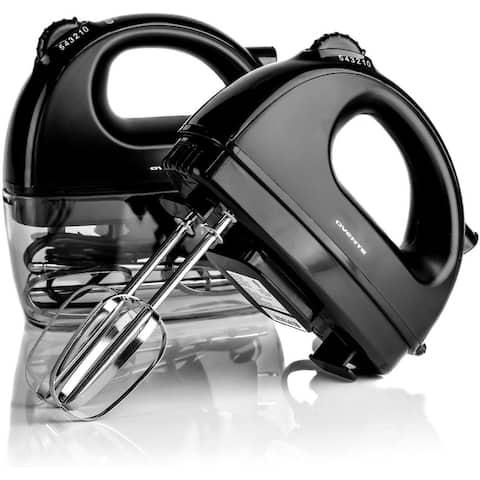 Ovente Hand Mixer 5 Speed Ultra Mixing, 200 Watt Powered, Black HM161B