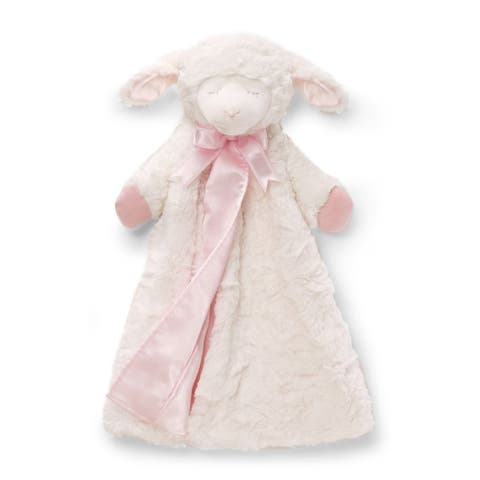Gund Winky Lamb Huggybuddy Stuffed Animal Plush Blanket Pink
