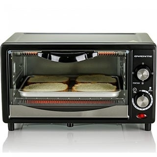Ovente Electric Toaster Oven 10L  with 3 Cooking Modes (TO5810B)