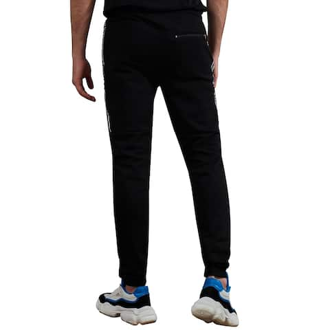 Villians of Virtue Men's Gym Jogger Sweatpants Athletic Running Sports Training Workout Track Pants Medium Black - M