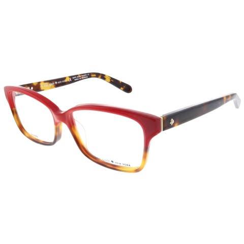 Kate Spade KS Sharla 1Q0 53mm Womens Red Tortoise Fade Frame Eyeglasses 53mm