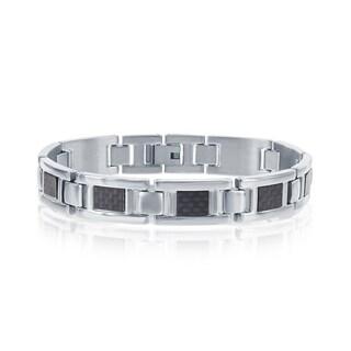 Link to La Preciosa Stainless Steel Men?s Matte 8.5?? Link Bracelet Similar Items in Men's Jewelry