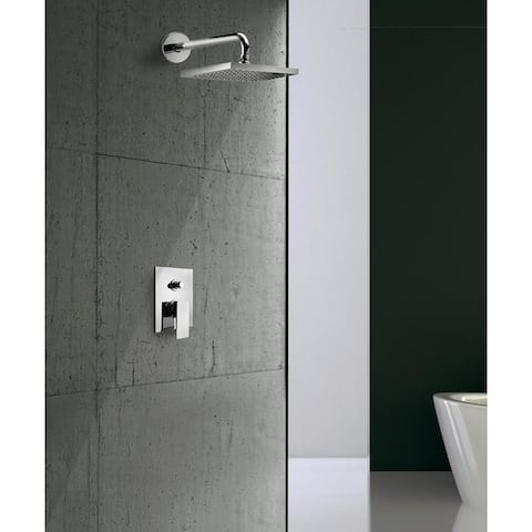 Quadro Thermostatic Shower With 2-Way Diverter Volume Control and Slide Bar in Matt Black