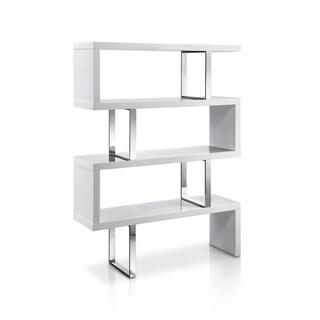 Strick & Bolton Monastero Modern Stainless Steel Bookcase