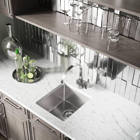 "1618 Stainless Steel Single Bowl 3/4"" Radius Kitchen Sink"