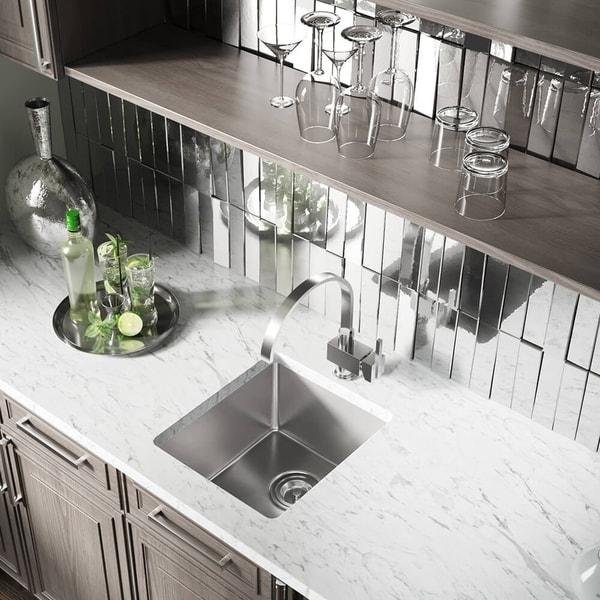"1618 Stainless Steel Single Bowl 3/4"" Radius Kitchen Sink. Opens flyout."
