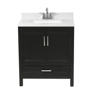 Salerno 31 in. Bath Vanity with Cultured Marble Vanity Top