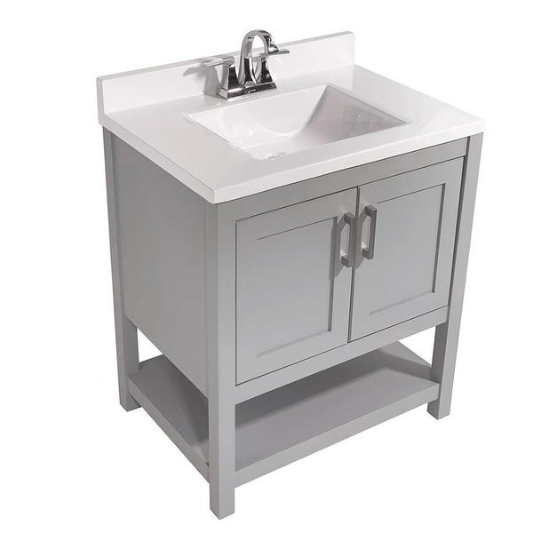 Tufino 31 in. Bath Vanity with Cultured Marble Vanity Top