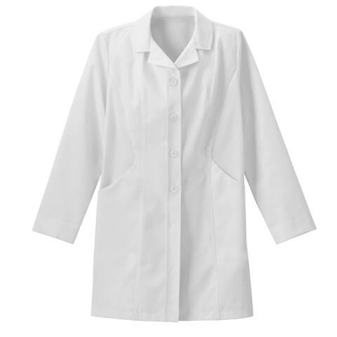 "Meta Pro 875 Ladies 34"" Double Curve Pocket Stretch Labcoat"