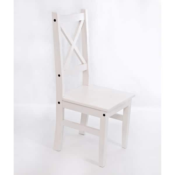 Shop Salvador Farmhouse White Wood Dining Room Chair Set Of 4 On Sale Free Shipping Today Overstock 30429741