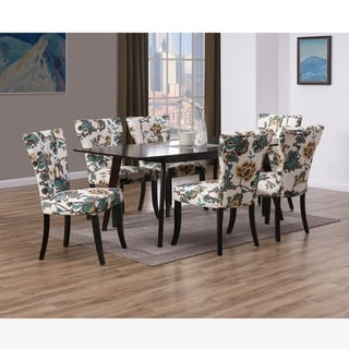 Copper Grove Windsor 7 Piece Wood Dining Table and Chairs