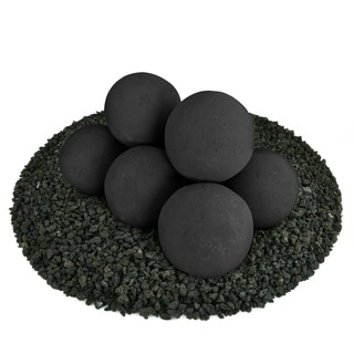 Ceramic Fire Balls | Fire Pit Accessory | Modern Decor for Indoor & Outdoor Fire Pits or Fireplaces