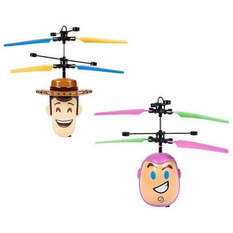 Disney Toy Story Woody or Buzz Lightyear UFO Hovering Helicopter