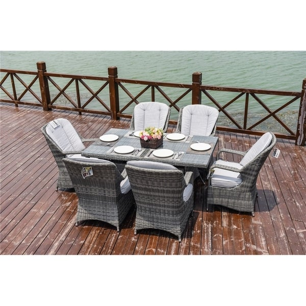 7 Piece OutdoorRectangle Dining Table and Chair Set