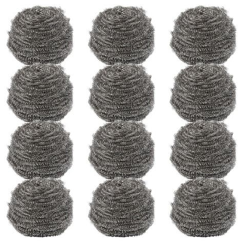 Stainless Steel Scouring Pad 12PC Scrubber Sponge Scourer for Kitchen Cleaning