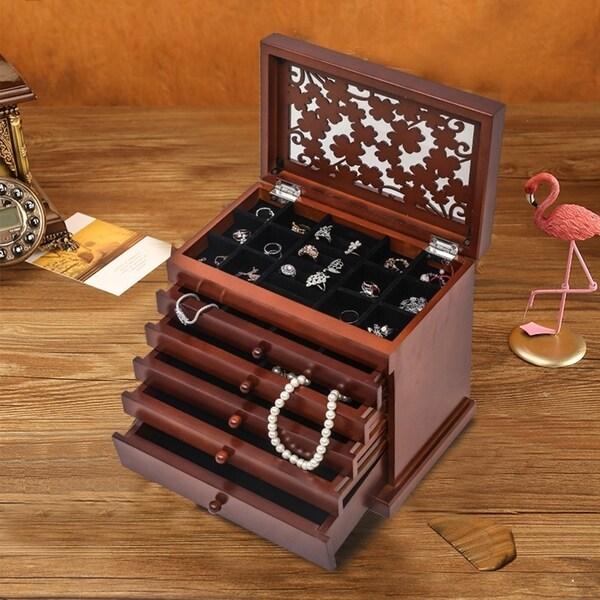 Jewelry Organizer, Wall-Mounted Jewelry Armoire for Women