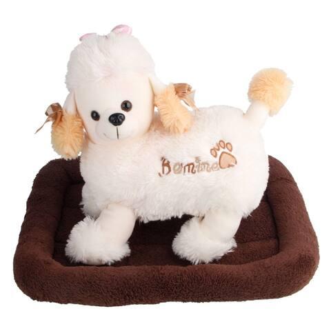 Super Soft Pet Dog Warm Bed Cushion Mat Blanket Size S Black